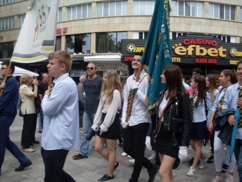 """ЕГ """"Иван Вазов"""" се включи в празничното шествие по случай 24 май"""
